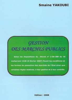 GESTION DES MARCHES PUBLICS