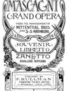 Zanetto; and Cavalleria Rusticana