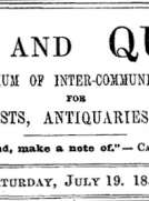 Notes and Queries, Vol. IV, Number 90, July 19, 1851