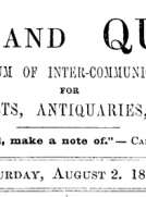 Notes and Queries, Vol. IV, Number 92, August 2, 1851