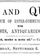 Notes and Queries, Vol. IV, Number 97, September 6, 1851