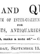 Notes and Queries, Vol. IV, Number 98, September 13, 1851
