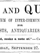 Notes and Queries, Vol. IV, Number 100, September 27, 1851