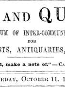 Notes and Queries, Vol. IV, Number 102, October 11, 1851