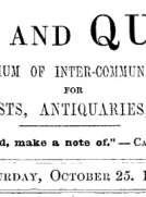 Notes and Queries, Vol. IV, Number 104, October 25, 1851