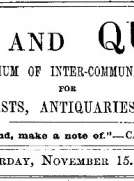 Notes and Queries, Vol. IV, Number 107, November 15, 1851