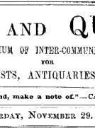 Notes and Queries, Vol. IV, Number 109, November 29, 1851