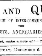Notes and Queries, Vol. IV, Number 110, December 6, 1851