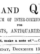 Notes and Queries, Vol. IV, Number 111, December 13, 1851