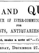 Notes and Queries, Vol. IV, Number 113, December 27, 1851