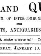 Notes and Queries, Vol. V, Number 115, January 10, 1852