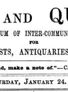 Notes and Queries, Vol. V, Number 117, January 24, 1852