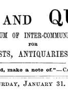 Notes and Queries, Vol. V, Number 118, January 31, 1852