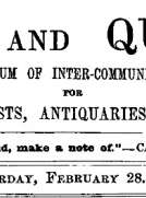 Notes and Queries, Vol. V, Number 122, February 28, 1852