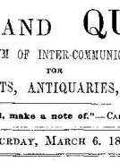 Notes and Queries, Vol. V, Number 123, March 6, 1852