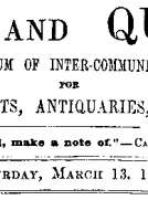 Notes and Queries, Vol. V, Number 124, March 13, 1852