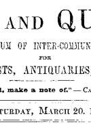 Notes and Queries, Vol. V, Number 125, March 20, 1852