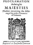 A Proclamation Declaring His Majesties Pleasure Concerning the Dissolving of the Present Convention of Parliament