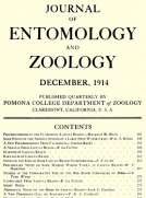 Journal of Entomology and Zoology: Volume 6, Number 4, December 1914