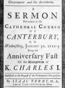 The religious and loyal subject's duty considered: with regard to the present Government and the Revolution A sermon preached in the Cathedral Church of Canterbury, on Wednesday, January 30, 1722-3