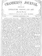 Chambers's Journal of Popular Literature, Science, and Art, No. 715 September 8, 1877