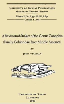 A Revision of Snakes of the Genus Conophis (Family Colubridae, from Middle America)