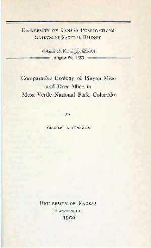Comparative Ecology of Pinyon Mice and Deer Mice in Mesa Verde National Park, Colorado