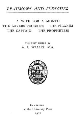 Beaumont and Fletcher's Works, Vol. 5