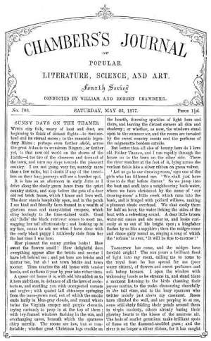 Chambers's Journal of Popular Literature, Science, and Art, No. 700 May 26, 1877