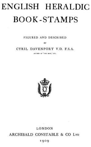 English Heraldic Book-stamps