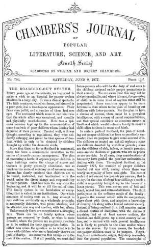 Chambers's Journal of Popular Literature, Science, and Art, No. 702 June 9, 1877