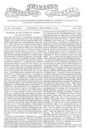 Chambers's Edinburgh Journal, No. 305 New Series, Saturday, November 3, 1849