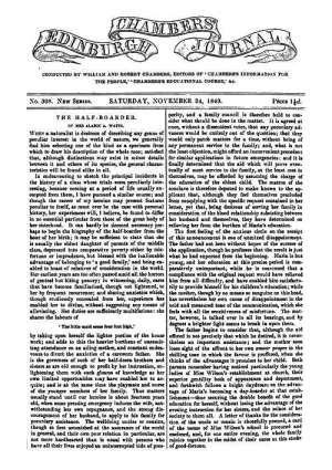 Chambers's Edinburgh Journal, No.308 New Series, Saturday, November 24, 1849