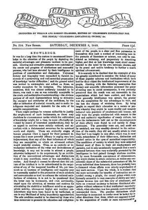 Chambers's Edinburgh Journal, No. 309 New Series, Saturday, December 8, 1849