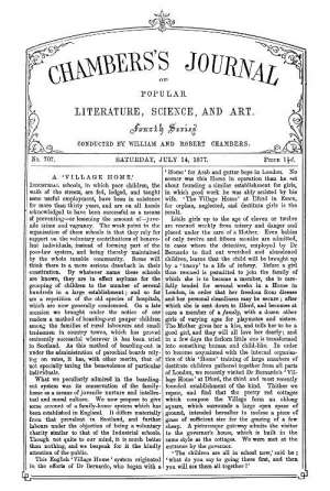 Chambers's Journal of Popular Literature, Science, and Art, No. 707, July 14, 1877