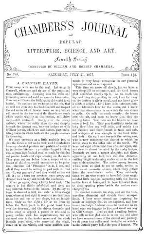 Chambers's Journal of Popular Literature, Science, and Art, No. 708 July 21, 1877
