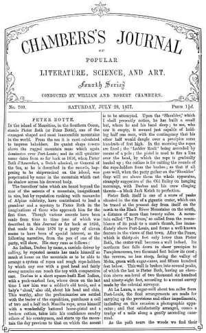 Chambers's Journal of Popular Literature, Science, and Art, No. 709 July 28, 1877