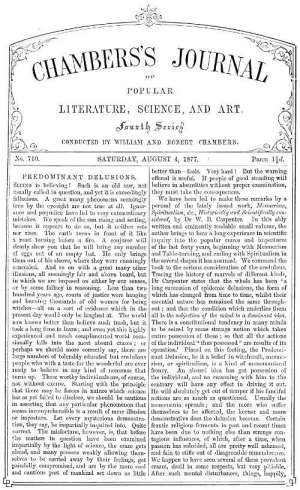 Chambers's Journal of Popular Literature, Science, and Art, No. 710 August 4, 1877