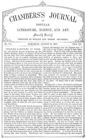 Chambers's Journal of Popular Literature, Science, and Art, No. 711, August 11, 1877