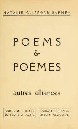 Poems & Poèmes autres alliances