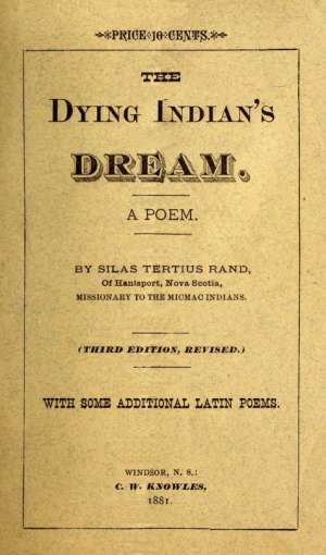 The Dying Indian's Dream A Poem