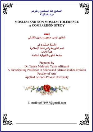 MOSLEM AND NON MOSLEM TOLERENCE A COMPARISON STUDY